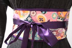 LUXE Violet  silk   Japanese umbrellas Obi by MyDivineBoutique, $45.00
