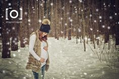 Photo maternité hiver neige bois foret exterieur , photography maternity winter snow forest wood outside