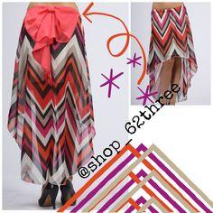 Bow Back Chevron Skirt