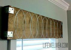 Wooden window valance                                                       …