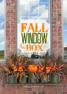 Create A Fall Window Box - OhMy-Creative.com