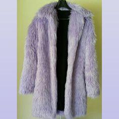 90s VINTAGE Pastel Lavender Faux Fur Shag Coat by AquaDystopia, $175.00