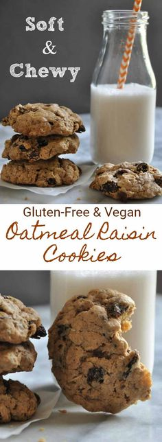 Soft and chewy classic oatmeal raisin cookies. Glu…