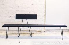 HomeMade Modern DIY Hairpin Bench Options