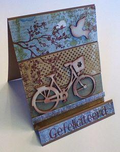 Marjoleine's blog: Kaart met houten fiets