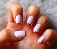 pale & pretty metallic highlights are giving pale pink a new edge Need a little manicure inspiration… we're loving these combos for brides, bridesmaids, birthday parties – and, well, anyway you want to add a little sparkle to your day! Need more manicure tips + inspiration? CLICK HERE {Pics: Pinterest / Byrdie}