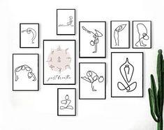 Yoga wall print | Etsy Diy Wall Art, Wall Art Sets, Wabi Sabi, Namaste, Yoga Kunst, Grandes Photos, Art Minimaliste, Boho Dekor, Grand Art