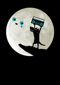 serenading the moon...