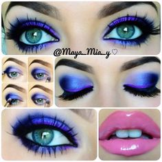 Pictorial 1.Apply maybeline color tattoo painted purple allover the lid.  2.Define the outer v with smoulder mac, smudge with a pencil brush and apply deep purple from the coastal scents 252 ultimate palette over it.Blend out the edges with a 217 mac brush.  3.Apply the purple shade from mac's odd couple duo in the center of the lid and lower lash line. Apply a lighter purple from the 252 coastal scents palette on the inner corner of the eyelid. Highlight with bootycall urban decay.  4.A...