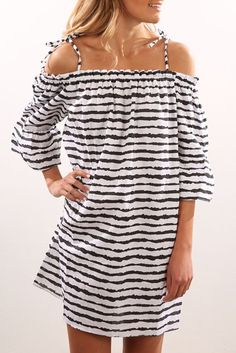 Ada Dress Navy Print