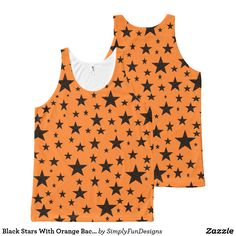 Black Stars With Orange Background All-Over-Print Tank Top