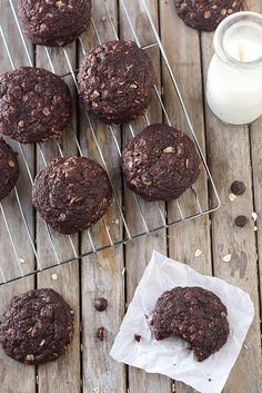 Chocolate Oatmeal Cookies by Completely Delicious, via Flickr #cookies #dessert #chocolate