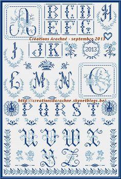 Le marquoir bleu d'Arachné - grille gratuite point de croix http://creationsdarachne.skynetblogs.be/archive/2013/10/17/le-grand-marquoir-bleu-d-arachne-grille-gratuite-point-de-cr.html