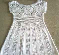 Summer flowers on the yoke tunic    Gift presents: fashion for women, crochet tutorial Free crochet pattern