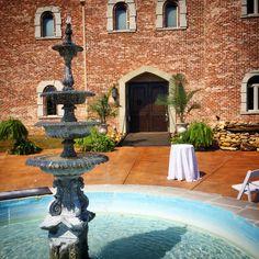 Ceremony at castle doors @  Pierce Castle in Decatur, Mississippi--Mississippi's Premiere Wedding and Event Venue. PierceCastleMS.com  @PierceCastle  Facebook/PierceCastle