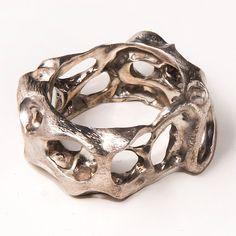 Bio F, sterling silver ring, unisex ring, wedding ring, wedding band, mens ring