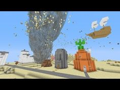 Minecraft: Tornado Vs. Bikini Bottom Map! (Spongebob Squarepants Map!)