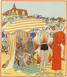 Hemjic , 20s/30s: Bathing time on the beach at Le Touquet