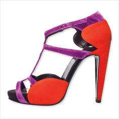 Pierre Hardy - Red & purple high heels sandale
