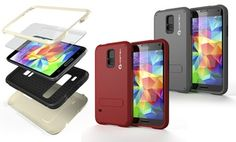 Groupon - Ghostek Bullet Case with Screen Protector and Built-In Kickstand for Samsung Galaxy S5 in [missing {{location}} value]. Groupon deal price: $9.99