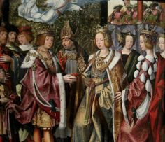 The meeting of Saint Ursula and Prince Conan Meriadoc, Museum of Ancient Art, Lisbon ca 1522