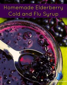 Homemade Elderberry Syrup - homemade soar throat elixir