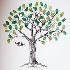 Image result for thumbprint tree with roots