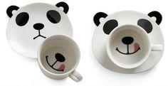 cute, mug, panda