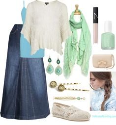 Minty Blue {Day Out} - The Modest Mom