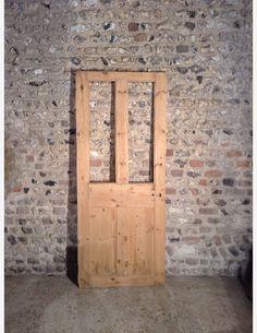 874 - 1/2 glazed Victorian 4 panel door