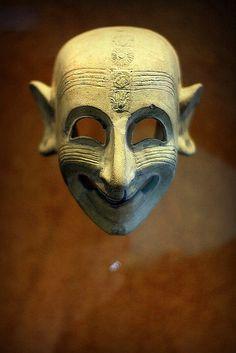 La maschera ghignante da San Sperate, Museo Archeologico di Cagliari by 3faeries via Flickr #Cagliari #SanSperate #Sardegna #Italy
