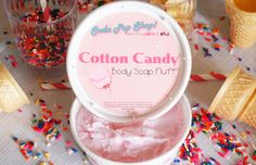 Cotton Candy Whipped Body Soap Fluff 8oz
