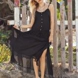 You won't want to start summer without this gorgeous 2015 Malai Swimwear Black Heron Maxi Dress. We love the flirty style low button front with drawstring adjustable waistline. Beachwear, Swimwear, Heron, Cover Up, Summer Dresses, Black, Style, Beach Playsuit, Bathing Suits
