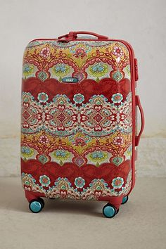 Bon Vivant Hardshell Suitcase #anthropologie by #oilily. I LOVE oilily!!