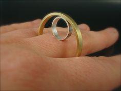 Ring | Danielle Miller-Gilliam 'Minimal Rendering #1' Sterling silver, brass.