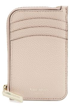 kate spade new york margaux leather zip card holder | Nordstrom