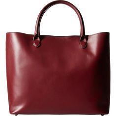 meli melo Sian (Burgundy) Handbags ($267) ❤ liked on Polyvore featuring bags, handbags, tote bags, purses, bolsa, burgundy, red leather handbags, evening handbags, red leather tote bag and handbags totes