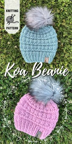 Beautiful chunky knit hat pattern made with super bulky yarn. I love the texture on this easy beginner knitting pattern. hat for beginners Chunky Knit Hats Knitted Mittens Pattern, Baby Hat Knitting Pattern, Baby Hat Patterns, Baby Hats Knitting, Easy Knitting Patterns, Vogue Knitting, Knitting Yarn, Free Knitting, Knitted Hats