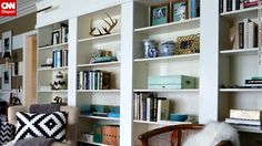 Kristin Cadwallader's library is constantly growing, she said, and she restyles her bookshelves all the time.