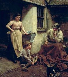 Walter Langley (English: 1852-1922) - A Chip off the Old Block