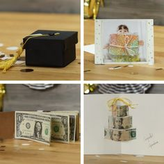 5 Creative Ways To Gift Money For Graduation - DIY Geschenke 2019 Fun Crafts, Diy And Crafts, Diy Graduation Gifts, Diy Cadeau, Ideias Diy, Gift Money, Creative Gifts, Homemade Gifts, Fun Projects