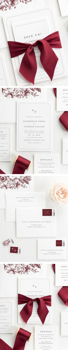 The Katherine wedding invitation collection is perfect for any modern and put-together wedding.