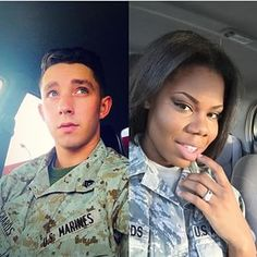 Millitary Interracial Couple, #Love #WMBW #BWWM Find your #InterracialMatch Here interracial-dating-sites.com