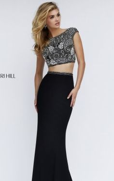 Two-Piece Beaded Gown by Sherri Hill 50049