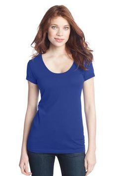 Buy the District - Juniors 60/40 Scoop Tee Style DT245 from SweatShirtStation.com, on sale now for $11.98 #deep #royal #blue #scoopneck #top #juniors