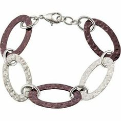 Oval Hammered Bracelet 08.00 Inch Reeve and Knight. $76.00