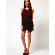 Asos Petite Exclusive Mini Dress With Halter Neck And Feathers ($210) via Polyvore