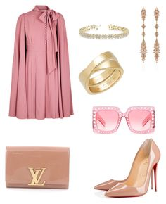 """Nude"" by jtodd1901 on Polyvore featuring Valentino, Christian Louboutin, Louis Vuitton, Fernando Jorge, Cartier, Allurez and Gucci"