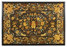 Top of a table veneered with floral marquetry, attributed to Gerrit Jensen, c. 1672-82 (NT1139568), at Ham House. ©National Trust Images/John Hammond