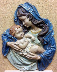 Virgen con el Niño despiertov28x36x4cm